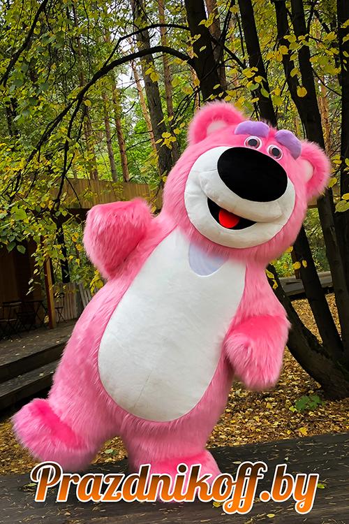 """Аниматор, ростовая кукла """"Розовый медведь"""""""