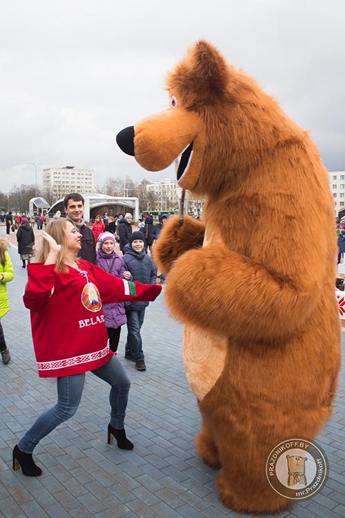 Маша и Медведь на Кубке Федерации. Минск 2017