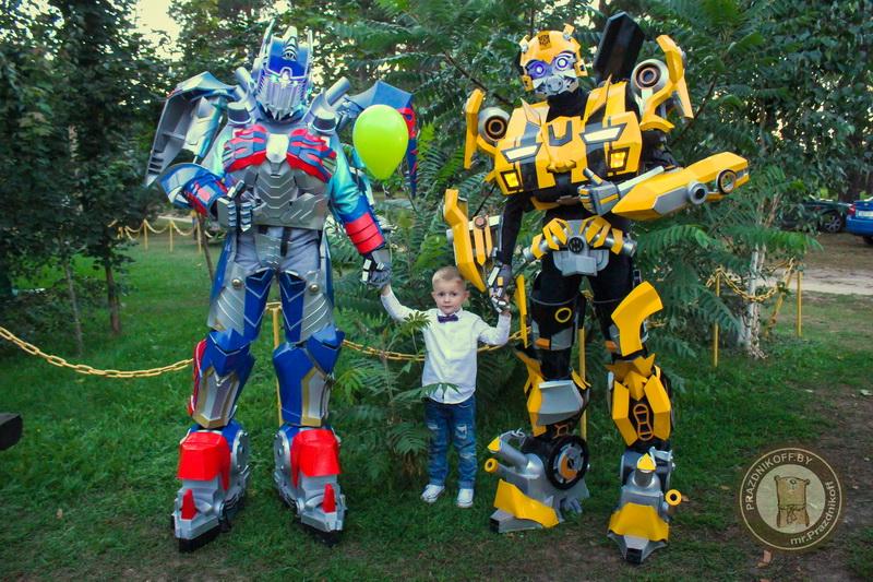 Трансформеры роботы аниматоры детский день рождения