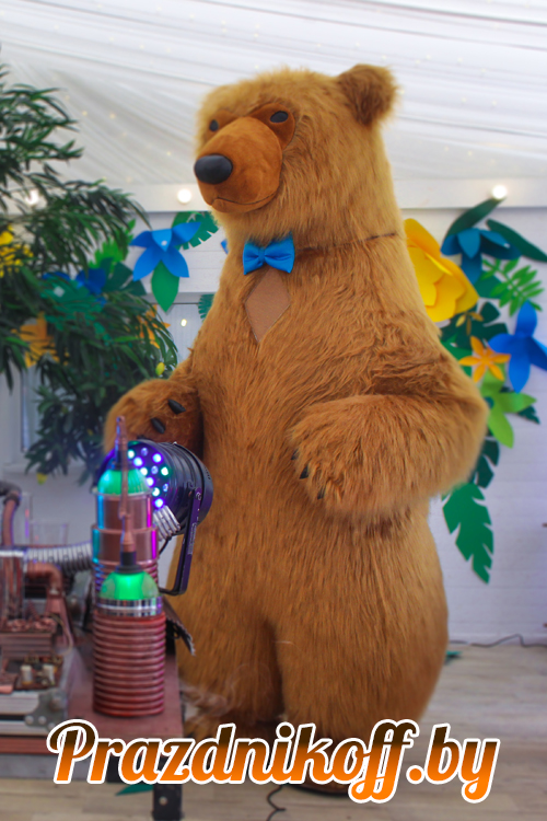 Аниматор - ростовая кукла Бурый медведь