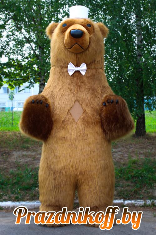 Аниматор в ростовой кукле Бурый медведь трехметровый
