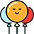 Иконка воздушные шары с гелием