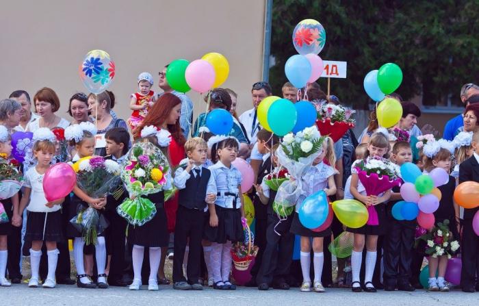 Шары с гелием к 1 сентября в школу.