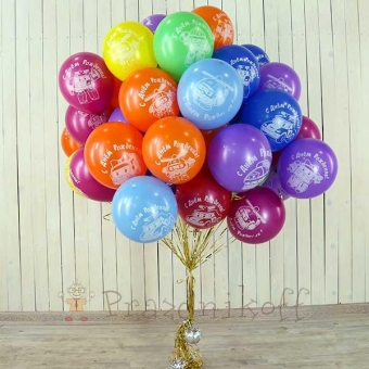 Набор шаров с днем рождения робокар поли