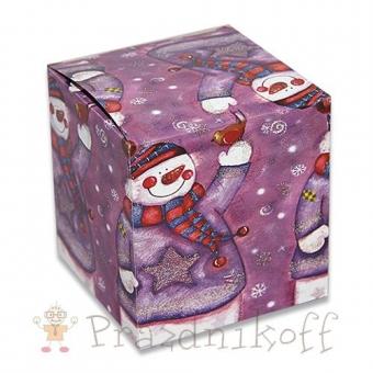 """Коробка """"Снеговик"""" для кружки"""