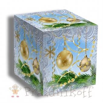 """Коробка """"Новогодние шары"""" для кружки"""