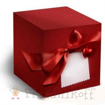 """Коробка """"Красный бант"""" для кружки"""