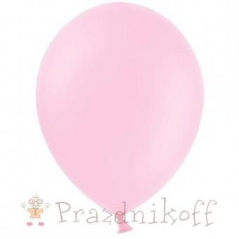 Светло розовые шары с гелием купить в Минске