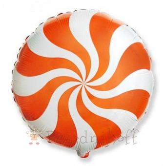 Шар Круг Леденец, Оранжевый