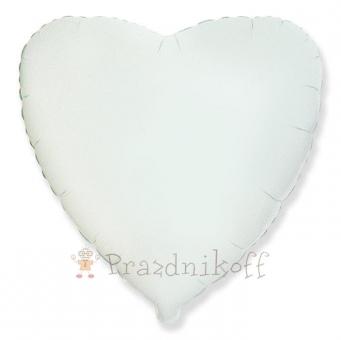 Шар Сердце, Белый,