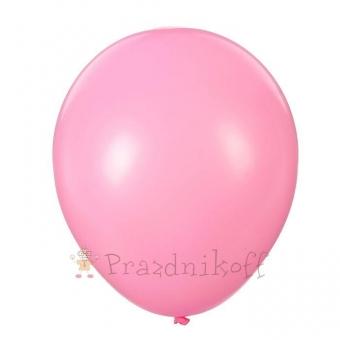 """Шар латексный """"Веселый праздник"""" Ярко-розовый, пастель"""