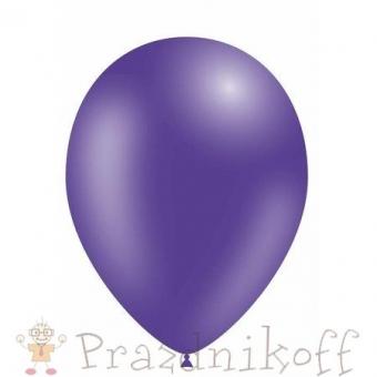 """Шар латексный """"Веселый праздник"""" Фиолетовый, металлик"""