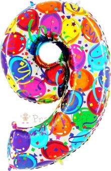 """Шар Grabo цифра фольгированная - Восемь """"8"""" Воздушные шары, Победителей"""