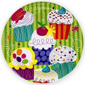 Набор тарелок «Пирожные» 17 см