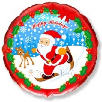 Шар Круг, Скользящий Санта, Красный