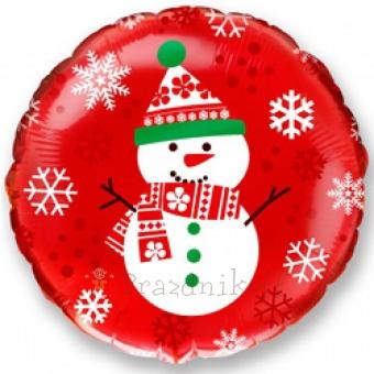 Шар Круг, Снеговик, Красный