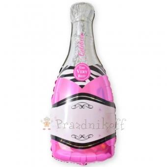Шар Фигура, Бутылка шампанского, Розовый