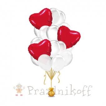 """Сет из шаров """"Сердце в облаках"""""""