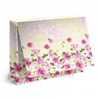 """Подарочная коробка для футболки """"Цветы"""""""