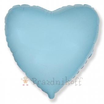 Шар Сердце. Голубой